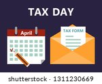 vector illustration of the tax... | Shutterstock .eps vector #1311230669