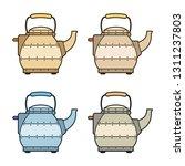 metal electric kettle in retro...   Shutterstock .eps vector #1311237803