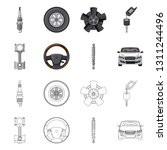 isolated object of auto and...   Shutterstock .eps vector #1311244496