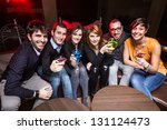 group of friends in a night club | Shutterstock . vector #131124473