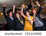 group of friends in a night club | Shutterstock . vector #131124500