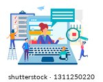 training in the team ... | Shutterstock .eps vector #1311250220
