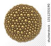 many golden balls of different... | Shutterstock .eps vector #1311253190