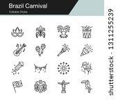 brazil carnival icons. modern...