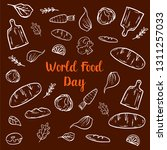 world food day drawing sketch...   Shutterstock .eps vector #1311257033