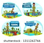fishing sport  fisherman and... | Shutterstock .eps vector #1311262766