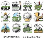 golf sport game symbols and...   Shutterstock .eps vector #1311262769