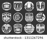 beer brewery pub and bar icons... | Shutterstock .eps vector #1311267296