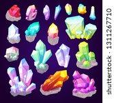 gemstone crystals  gem stones... | Shutterstock .eps vector #1311267710