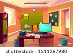 Vector Cartoon Background Of...