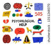 psychology. psychological help. ... | Shutterstock .eps vector #1311268370