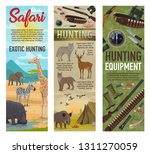 african safari hunting  forest... | Shutterstock .eps vector #1311270059
