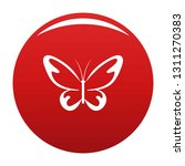 flying moth icon. simple... | Shutterstock .eps vector #1311270383