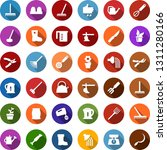 color back flat icon set  ... | Shutterstock .eps vector #1311280166