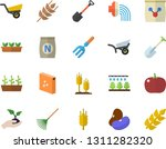 color flat icon set groats flat ... | Shutterstock .eps vector #1311282320