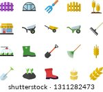 color flat icon set wheelbarrow ... | Shutterstock .eps vector #1311282473