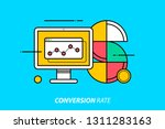 conversion rate. colorful... | Shutterstock .eps vector #1311283163