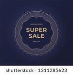 black friday sale banner.... | Shutterstock . vector #1311285623