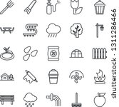 thin line icon set   farm fork... | Shutterstock .eps vector #1311286466