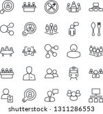 thin line icon set   spoon and... | Shutterstock .eps vector #1311286553