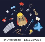 camping icons set. hiking icons ... | Shutterstock . vector #1311289316