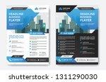 corporate business flyer poster ... | Shutterstock .eps vector #1311290030