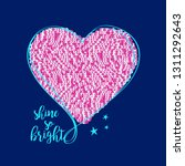 heart with sequin vector. | Shutterstock .eps vector #1311292643