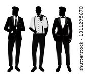 wedding men s suit and tuxedo.... | Shutterstock . vector #1311295670