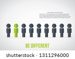 be different   being different  ... | Shutterstock .eps vector #1311296000