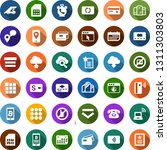 color back flat icon set  ... | Shutterstock .eps vector #1311303803