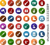 color back flat icon set  ... | Shutterstock .eps vector #1311313889