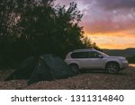 camping at rivershore on...   Shutterstock . vector #1311314840