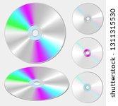 cd or dvd disc. vector image | Shutterstock .eps vector #1311315530