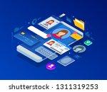 isometric personal data... | Shutterstock .eps vector #1311319253