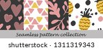 floral seamless background set | Shutterstock .eps vector #1311319343