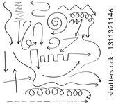 set of hand drawn doodle arrows ... | Shutterstock .eps vector #1311321146