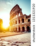 the ancient colosseum in rome... | Shutterstock . vector #1311321920