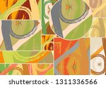 abstract collage asymmetric... | Shutterstock .eps vector #1311336566