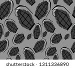 seamless pattern with grenades... | Shutterstock .eps vector #1311336890