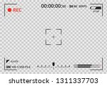 video camera viewfinder on... | Shutterstock .eps vector #1311337703