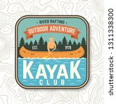 kayak club patch. vector... | Shutterstock .eps vector #1311338300