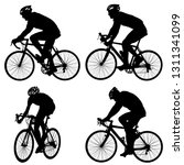 set silhouette of a cyclist... | Shutterstock .eps vector #1311341099