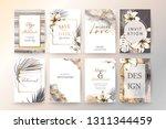 set of elegant chic brochure  ... | Shutterstock .eps vector #1311344459
