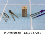 wooden blocks with drawing... | Shutterstock . vector #1311357263