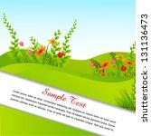 vector illustration of blank... | Shutterstock .eps vector #131136473