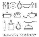 Set Of Line Style Kitchenware...