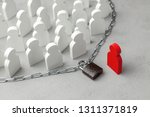 human rights. restriction of... | Shutterstock . vector #1311371819