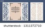 laser cut wedding invitation...   Shutterstock .eps vector #1311372710