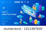 3d it specialists working on... | Shutterstock .eps vector #1311387830