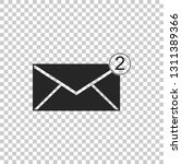 envelope icon isolated on... | Shutterstock .eps vector #1311389366